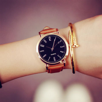 Trendy Gift Good Price Awesome New Arrival Great Deal Designer's Korean Vintage Fashion Stylish Waterproof Simple Design Chain Watch [6045714433]