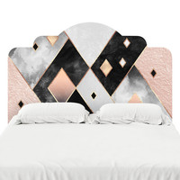 Art Deco Diamonds Headboard Decal