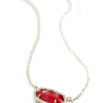 Elisa Gold Pendant Necklace in Ruby Red | Kendra Scott