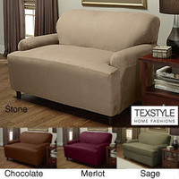 TexStyle Stretch Microsuede 1-piece Loveseat Slipcover