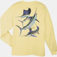 Guy Harvey Grand Slam Long Sleeve Back-Print T-Shirt