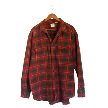 Lumbersexual Red Flannel Shirt 90s Grunge Flannel Shirt Men Flannel Shirt Men XL Shirt Plaid Flannel Shirt Lumberjack Flannel Men Cotton