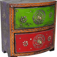 Double Chested Mango Wood Almirah Jewelry Box