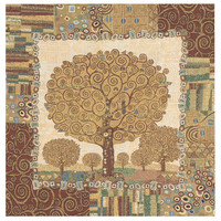 Klimts Tree of Life Italian Wall Hanging