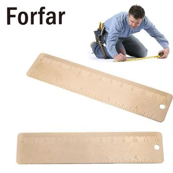Outdoor Calibration Copper Graduation Ruler Markings Portable Practical Pure Gold Measuring Tools Outdoor Camping tool