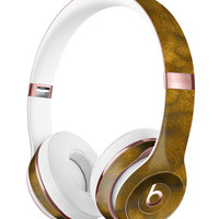 Micro Golden Watercolor Stains Full-Body Skin Kit for the Beats by Dre Solo 3 Wireless Headphones