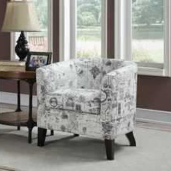 Jerry Barrel Back Accent Arm Chair