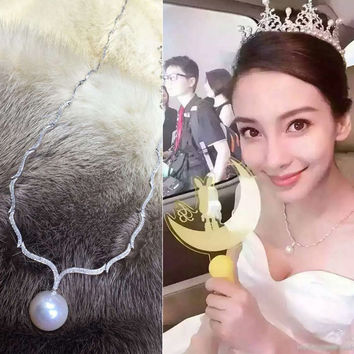 Shiny Jewelry Stylish Gift New Arrival Baby Pearls Princess Accessory Necklace [4914844100]