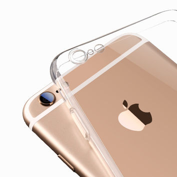iPhone Soft Case Crystal Clear Transparent Silicon Ultra Thin Slim Shell for iPhone 6 and 6 Plus