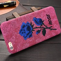 Print Roses Sexy Lady Woman Phone Case For iPhone 6 6S Plus 7 7 Plus