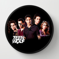 teen wolf Wall Clock by kikabarros | Society6