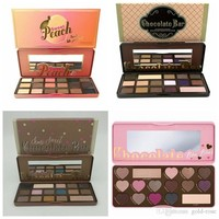HOT Makeup Chocolate Bar Eyeshadow semi-sweet Sweet Peach Bon Bons Palette 16 Color Eye Shadow plates +gift