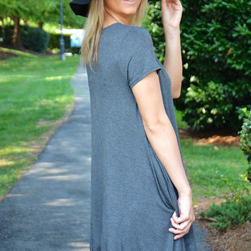 Do or Die dress, charcoal