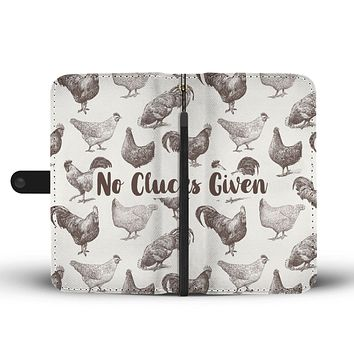 Chicken Clucks Wallet Phone Case