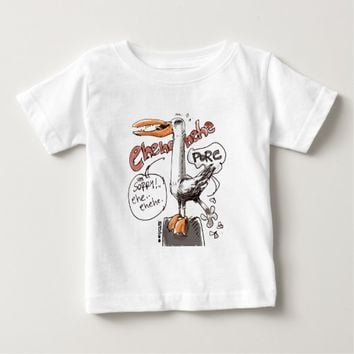 rude seagull cartoon style digital drawing baby T-Shirt