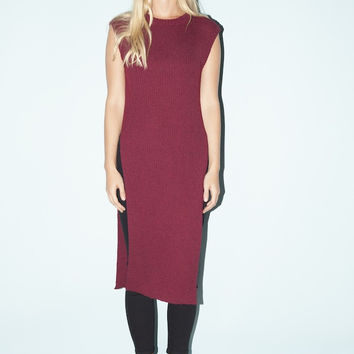 Long Road Sleeveless Sweater - Plum