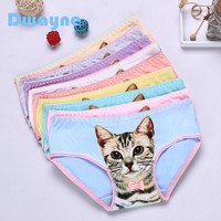 Dwayne Hot Selling Fashion Women Cotton Underwear Women's 3D Printed Cat Briefs Plus Size Panties Intimates Sexy Girls Lingerie