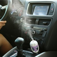 Aromatherapy For Your Car - Portable Cool Mist Ultrasonic Humidifier with Aroma Diffuser
