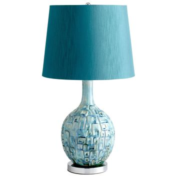 Jordan Ceramic Teal Table Lamp by Cyan Design