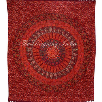 Mandala Tapestry Queen tapestries Wall Hanging Indian Bedding Ethnic Craft 3140