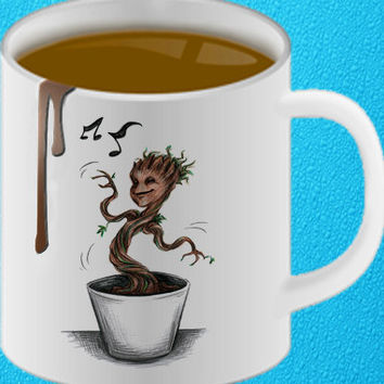 baby groot mug coffee, mug tea, size 8,2 x 9,5 cm heppy coffee.