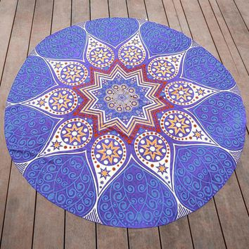 Round Hippie Bohemian Beach Towel