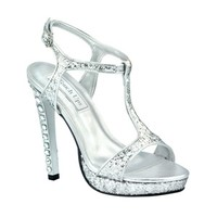 Silver prom shoes | Prom dresses | Prom shoes | Darcy by Touch Ups TU547 Silver Platform Sandal | GownGarden.com
