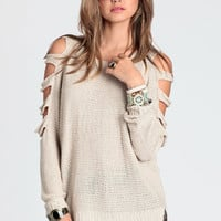 Too Far Gone Sweater by Aryn K - $66.00: ThreadSence, Women's Indie & Bohemian Clothing, Dresses, & Accessories
