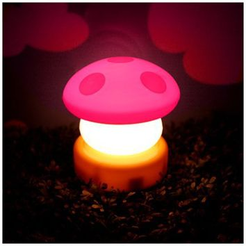 MochiThings.com : Pink Mini Mushroom Lamp