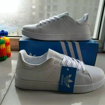 """Adidas"" Fashion Casual Unisex Sneakers Plate Shoes ""STAN SMITH"" Small White Shoes Couple Running Shoes"