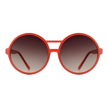 Komono - Coco Milky Red Sunglasses / Polycarbonate Gradient Smoke Lenses