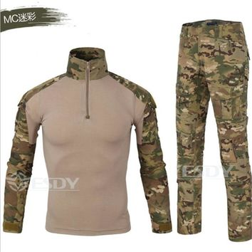 US Tactical Ghillie Suit Camouflage Military Uniform Army Suit Combat Shirt Tactical Pants  Paintball Hunting Clothes