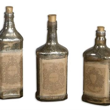Recycled Bottles Set 5 By Uttermost