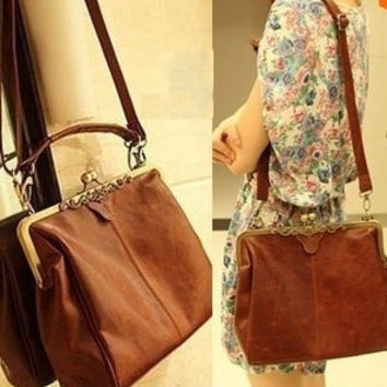 2013 New Women's Brown Europe Retro Vintage Shoulder Purse Handbag fashion bag Totes = 1946259972
