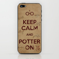 Keep Calm and Potter On // Marauders Map iPhone & iPod Skin by -raminik Design- | Society6