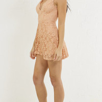 Scallop Lace Girly Skater Dress