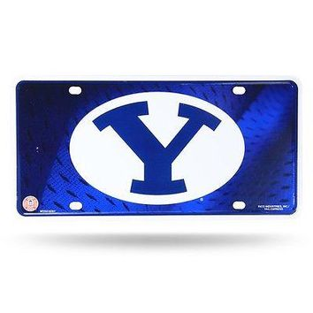 Bringham Young BYU Cougars Logo NCAA 12x6 Auto Metal License Plate Tag