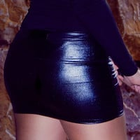 Lil Miss Dominatrix - Wet Look Mini Skirt by Sex Kitten Couture