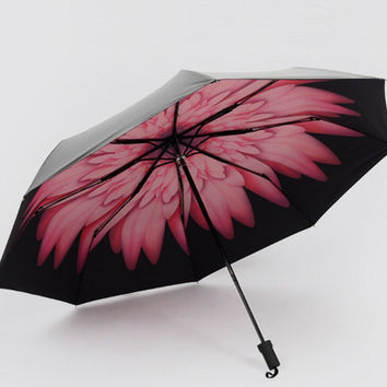 Little Daisy Compact Auto Folding Umbrella