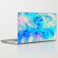Electrify Ice Blue Laptop & iPad Skin by Amy Sia