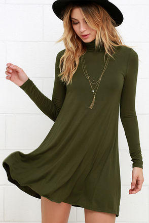 Sway Girl Sway Olive Green Swing Dress From Lulu S