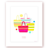 Tote Bags Digital Print Fashion Poster Tote Bag Printable Fashion Illustration Teens Room Decor Girls Wall Decor Girls Wall Art Office Decor
