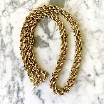 "Vintage Monet Rope Chain 36"" Necklace"