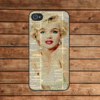 Marilyn Monroe--iphone 4 case,iphone 4s case,iphone 4 cover,in plastic or silicone case
