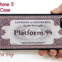 iPhone 5 Case -- Hogwarts Express Train Ticket iPhone 5 Case, harry potter iphone 5 case, graphic iphone 5 case