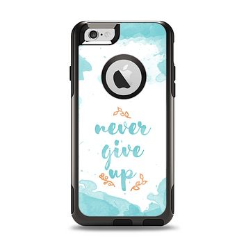 "The ""Never Give Up"" Womens Apple iPhone 6 Otterbox Commuter Case Skin Set"