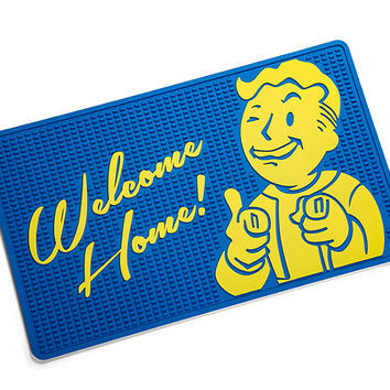 Fallout Vault Boy Welcome Mat