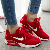 """""""NIKE"""" Sports shoes fashion shoes comfortable cushion Ms. solid student with muffin"""
