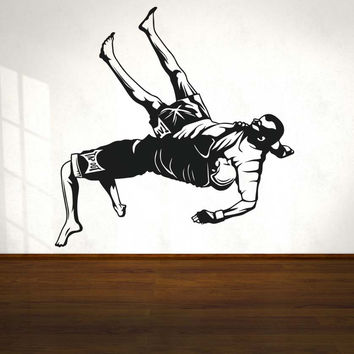Vinyl Wall Decal Sticker MMA Wrestling Suplex Move #5204