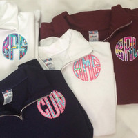 Lilly Pulitzer Monogram Quarter Zip